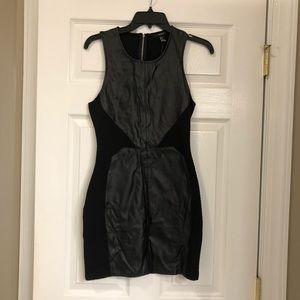 Faux Leather Mix Dress